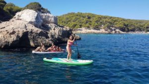 paddle boarding the mallorca coast line bladerunner mallorca